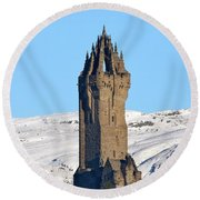 The National Wallace Monument Round Beach Towel