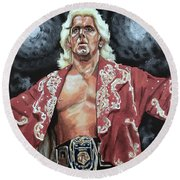 The Nature Boy Ric Flair Round Beach Towel