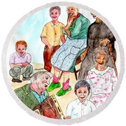 The Neighborhood Music Man Round Beach Towel