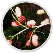 Round Beach Towel featuring the digital art The New Mulberries by Winsome Gunning