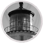 Round Beach Towel featuring the photograph The Night Light by Laddie Halupa