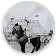 The Noble Man Round Beach Towel