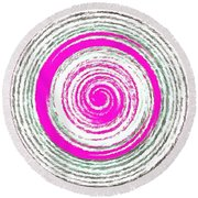 The Noise Round Beach Towel by Catherine Lott