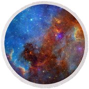 Round Beach Towel featuring the photograph The North America Nebula In Different Lights by NASA JPL - Caltech