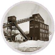 The Northwest Coal Company Breaker Eynon Pennsylvania 1971 Round Beach Towel