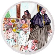 The Nuns Of St Marys Round Beach Towel