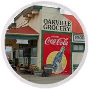 The Oakville Grocery Round Beach Towel by Suzanne Gaff