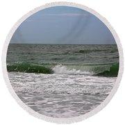 The Ocean In Motion Round Beach Towel