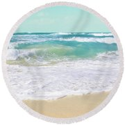 Round Beach Towel featuring the photograph The Ocean by Sharon Mau