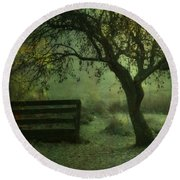 The Old Apple Tree Round Beach Towel