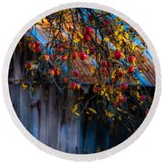 The Old Barn Round Beach Towel by Sherman Perry