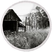 The Old Shed Round Beach Towel