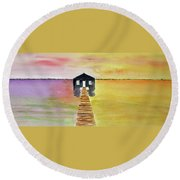 The Old Boat Shed Round Beach Towel