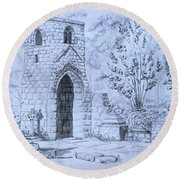 The Old Chantry Round Beach Towel