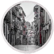 The Old City Round Beach Towel