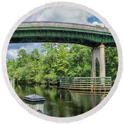 The Old Conway Bridge Round Beach Towel