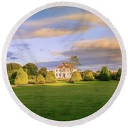 Round Beach Towel featuring the photograph The Old Country House by Roy McPeak