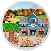 The Old Country Store Round Beach Towel