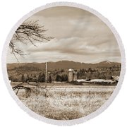 The Old Farm 1 Round Beach Towel by Ansel Price
