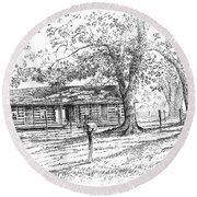 The Old Homeplace Round Beach Towel
