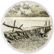 The Old Jetty Round Beach Towel