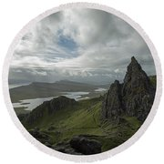 The Old Man Of Storr Round Beach Towel