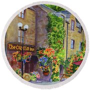 The Old Mill Inn Round Beach Towel