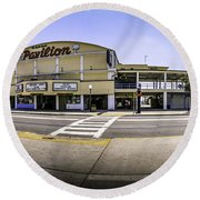 The Old Myrtle Beach Pavilion Round Beach Towel by David Smith