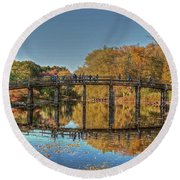 The Old North Bridge Round Beach Towel