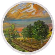 The Old Orchard Round Beach Towel