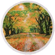 The Old Paths Round Beach Towel