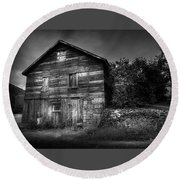Round Beach Towel featuring the photograph The Old Place by Marvin Spates