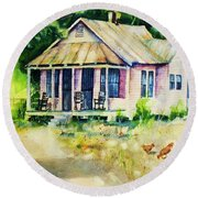 The Old Place Round Beach Towel
