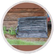 The Old Porch Swing Round Beach Towel