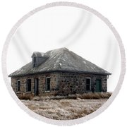 The Old Stone House Round Beach Towel