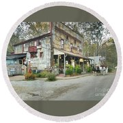 The Old Story Inn 1851 Nashville Indiana - Original Round Beach Towel