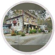 The Old Story Inn 1851 Nashville Indiana - Original Round Beach Towel by Scott D Van Osdol