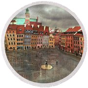 The Old Town # 24 Round Beach Towel