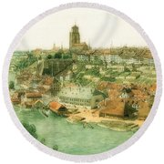 The Old Town Of Berne Seen From The Muristalden Round Beach Towel