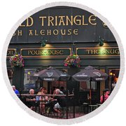 The Old Triangle Alehouse Round Beach Towel