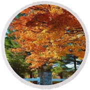 The Old Yard Light Round Beach Towel