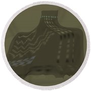 The Olive Citadel Round Beach Towel