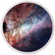 Round Beach Towel featuring the photograph The Omega Nebula by Eso