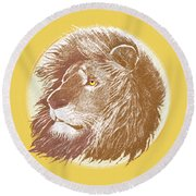 The One True King Round Beach Towel by J L Meadows