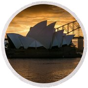 The Opera House Round Beach Towel by Andrew Matwijec