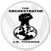 Round Beach Towel featuring the digital art The Orchestrator Cover by Jayvon Thomas