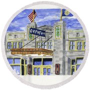 The Orpheum Round Beach Towel by Rodger Ellingson