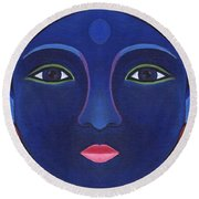 The Other Side - Full Face 1 Round Beach Towel