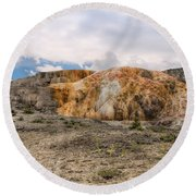Round Beach Towel featuring the photograph The Other Yellowstone by John M Bailey