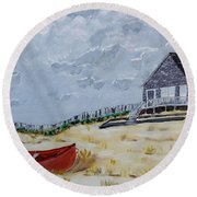 The Outer Banks Round Beach Towel